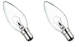 10 X 60W CANDLE SBC CLEAR DECORATIVE BULB BRANDED