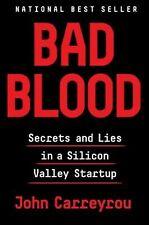 Bad Blood By John Carreyrou National Best Seller Hardcover $28 EUC