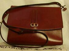👜 Sac DELVAUX, cuir bordeaux avec son sac de protection.