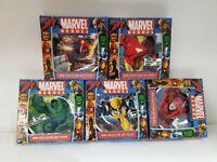 Marvel Heroes 5 LOT SET Comics Mini Collector Plate Wolverine Iron man Hulk