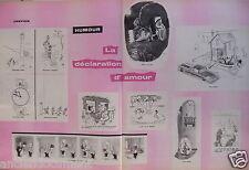 DESSIN HUMORISTIQUE 1958 SEMPÉ TREZ LA DÉCLARATION D'AMOUR