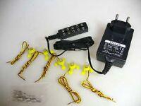 5 Beleuchtungssockel 12V + Steger Netzteil (Trafo) für Modellbahn #S