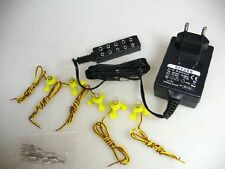 5 Beleuchtungssockel 12V +Trafo für Modellbahn #S