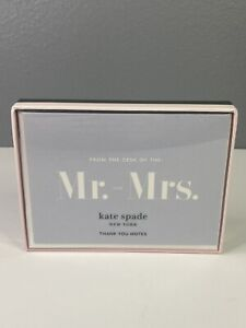 """KATE SPADE Thank You Cards - Set Of 10. """"From the Desk Of The Mr. & Mrs."""" NEW!!"""