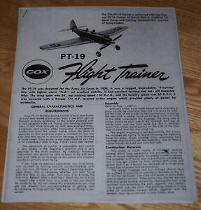 Für Graupner COX PT-19 Flightrainer: Fesselflugmodell: Anleitung