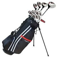 "Prosimmon Golf X9 V2 Tall +1"" Mens Graphite/Steel Golf Club Set &Bag -Stiff Flex"