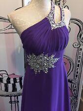 Cadbury Purple Ballgown Dress Size 8 Prom/bridesmaid New