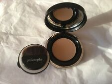 PHILOSOPHY DIVINE CREAM TO SATIN FOUNDATION LIGHT  SPF 25 COMPACT & BRUSH