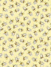 Bunny Bees Fabric, By The Yard, Bee Fabric,  Timeless Treasures, TheFabricEdge