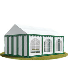 Marquee 4x6m green-white PVC 500g/m² party tent waterproof with ground frame