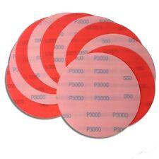 """6"""" 10 Pack 3000 Grit Waterproof Hook and Loop Film Sanding Discs - Wet Sand Auto"""