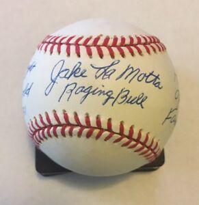 Jake LaMotta Signed Autographed RONLB Multi Inscribed Raging Bull JSA