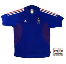 France 2002/04 International Home Soccer Jersey Large Adidas