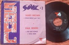 "JAMES BROWN Cold Sweat / PAUL REVERE No Sad Songs RARE IRAN ONLY 7"" EP"