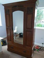 More details for antique oak gentlemans wardrobe