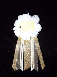 Gold & White  Bride to Be Bridal Shower Pin