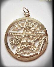 Tetragrammaton plata pentagrama pagan wiccan tetragramaton  Sterling Silver