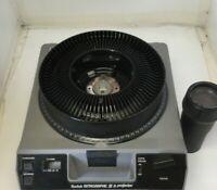 Kodak Ektagraphic III AM Carousel Slide Projector Navitar Bright Light w/ Case