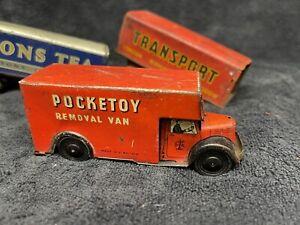 POCKETOY REMOVAL VAN CLOCKWORK TIN PLATE WELLS BRIMTOY Transport & Lyons Tea