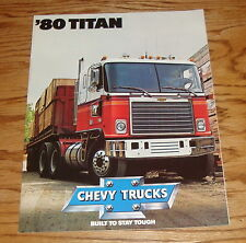Original 1980 Chevrolet Truck Titan Sales Brochure 80 Chevy