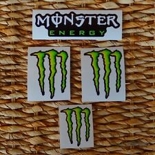 KIT 4 MONSTER ENERGY DECAL STICKER  VALENTINO ROSSI,MARQUEZ MOTO GP FORMULA 1