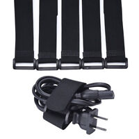 Reusable Silverline Pack Hook Loop Cable Cord Ties Tidy Straps Af able  I