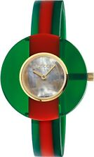 8eb06167c70 Watch Gucci Vintage Web Ya147403 Ladies Swiss Red Green Resin Bangle