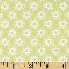 FreeSpirit Tanya Whelan LITTLE FLOWER Cotton Fabric-GREEN-£12.50 per M-Free P&P