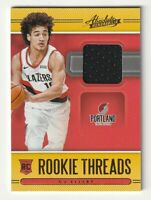 2020-21 Panini Absolute Memorabilia Rookie Threads Jersey Patch CJ Elleby RC