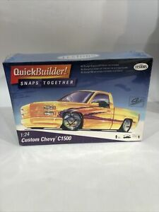 T17) Custom Chevy C1500 Truck Quick Builder Testors 1:24 Kit Snap Together New