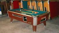 6 1/2' VALLEY COMMERCIAL COIN-OP POOL TABLE MODEL ZD-4 NEW GREEN CLOTH