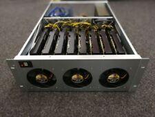 8 GPU 19 Zoll Miner SET ASRock H110 Pro BTC+ 4 GB DDR4 6x120mm Lüfter 1600W PSU