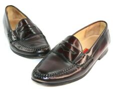 Cole Haan City Burgundy Cordovan Moc Toe Casual Slip On Penny Loafer Sz 9.5