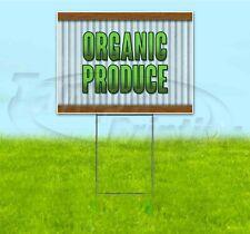 ORGANIC PRODUCE 18x24 Yard Sign WITH STAKE Corrugated Bandit USA BUSINESS FRESH