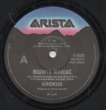 "KROKUS  Rare 1984 Australian Only 7"" OOP Festival Metal Single ""Midnight Maniac"""