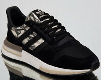 """adidas Originals ZX 500 RM """"Snakeskin"""" Mens New Black Lifestyle Sneakers BD7924"""