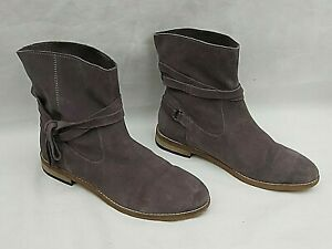 NEXT GREY SUEDE ANKLE TIE  PULL ON CHELSEA / ANKLE BOOTS UK 4 FREE UK P&P!!