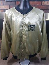 Vintage Gold Satin Snap Jacket XXL Smoke Craft Real Smoke House Beef Marinated