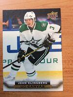 UPPER DECK 2015-2016 SERIES TWO CANVAS JOHN KLINGBERG HOCKEY CARD C-147