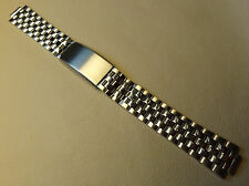 New Old Stock NOS Vintage Mens Stainless Steel 10mm Trifold Clasp Watch Band
