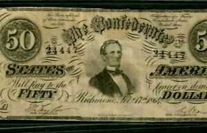 "$50 ""CONFEDERATE"" (BLUEBACK) 1800'S (RARE) $50 ""CONFEDERATE""  CRISPY!!!!!"