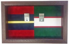 Large Double Regimental Colours Medal Display Case