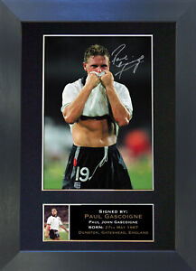 PAUL GASCOIGNE Gazza Signed Mounted Reproduction Autograph Photo Prints A4 313