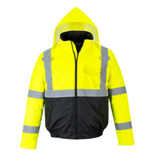 Hi Vis Bomber Rain Jacket 3 Jackets in 1 Reflective Work Safety Portwest
