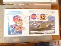 NEW ZEALAND 1990 STAMP  COMMONWEALTH GAMES AUCKLAND MINI SHEET FIRST DAY COVER