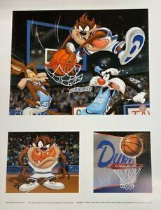 Looney Tunes Duke Blue Devils NCAA Basketball Bugs Taz Daffy Litho Toon Art