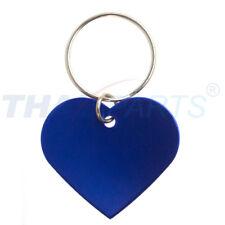 10er Pack Hundemarken Rohlinge Herz 38x33mm Aluminium blau eloxiert