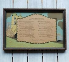 Antique VOLLAND MOTTO PRINT California Landscape END OF A PERFECT DAY W/ FRIENDS