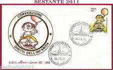 ITALIA FDC ROMA LUXOR 495 CONVENZIONE DIRITTI DELL'INFANZIA 1991 TORINO T870