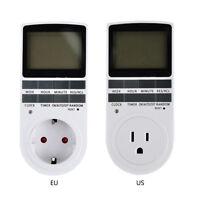 24 Hour Timer Switch Socket EU US Plug-in Programable Digital LCD Display Timer